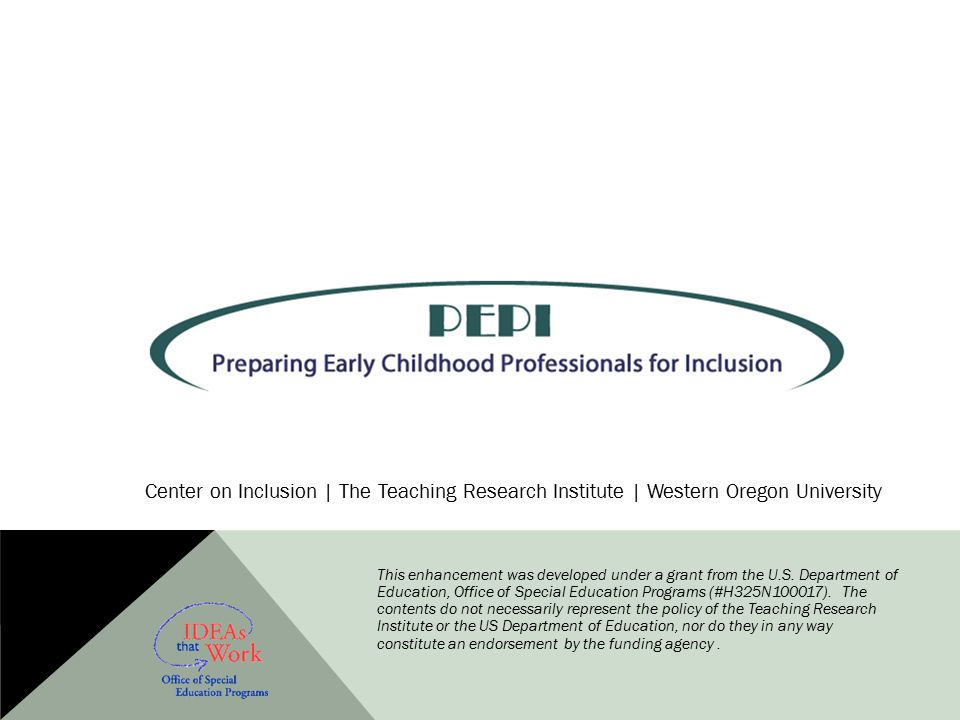 Center on Inclusion | The Teaching Research Institute | Western Oregon University