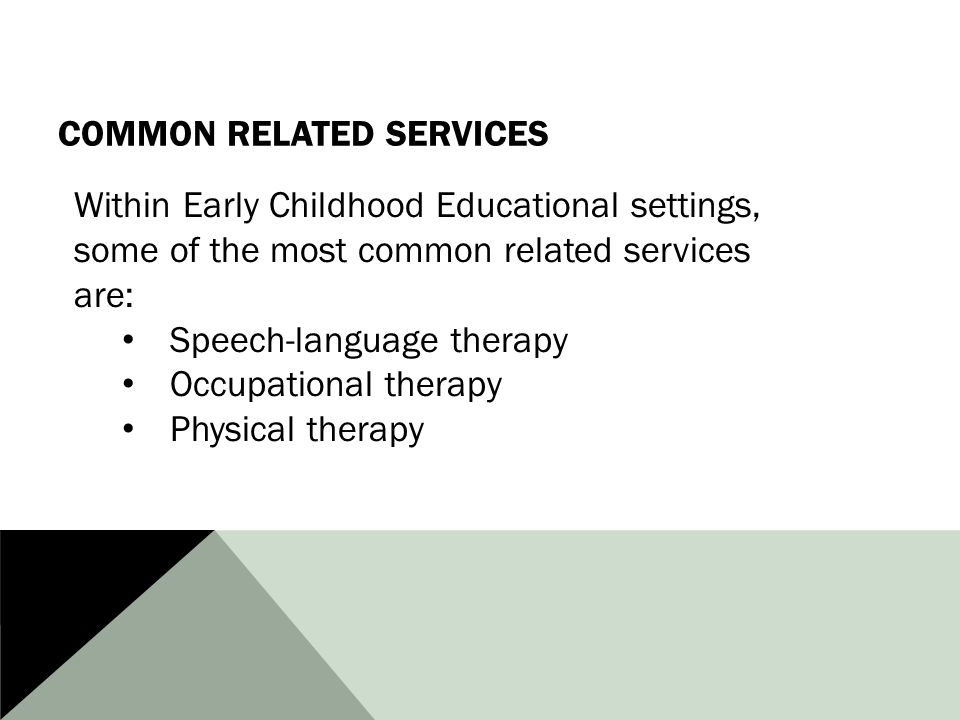 Common Related Services
