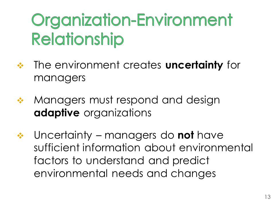 Organization-Environment Relationship