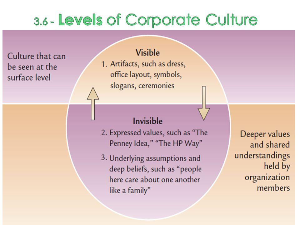 3.6 - Levels of Corporate Culture