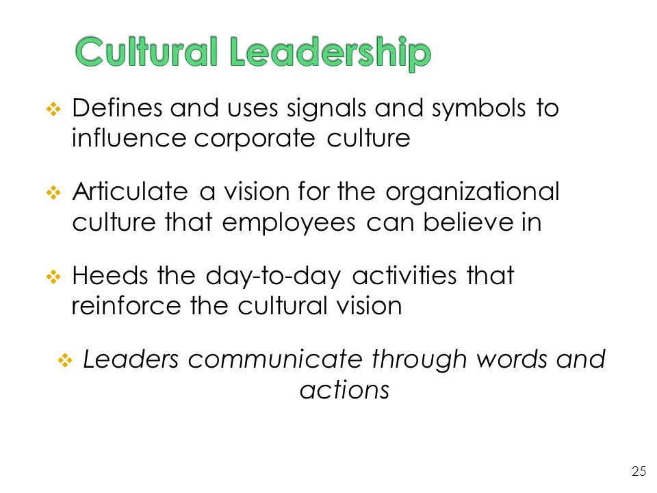 Leaders communicate through words and actions