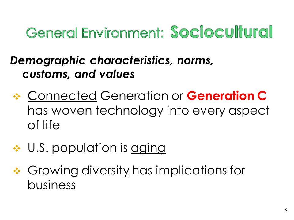 General Environment: Sociocultural