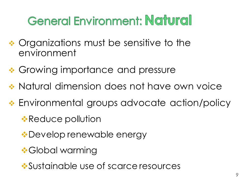 General Environment: Natural