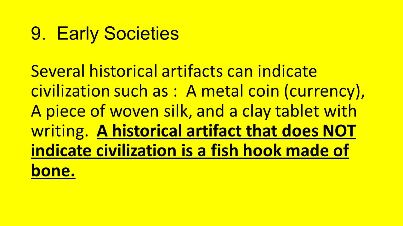 9. Early Societies