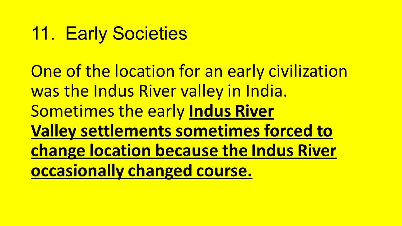 11. Early Societies