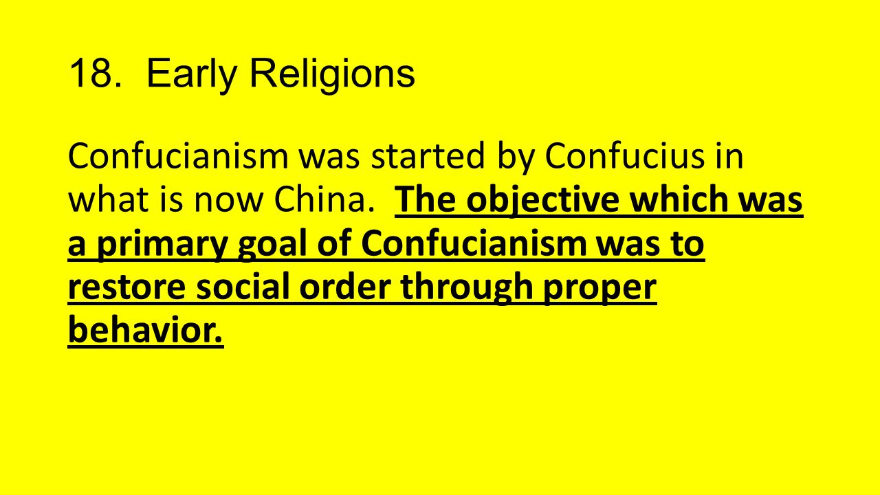 18. Early Religions