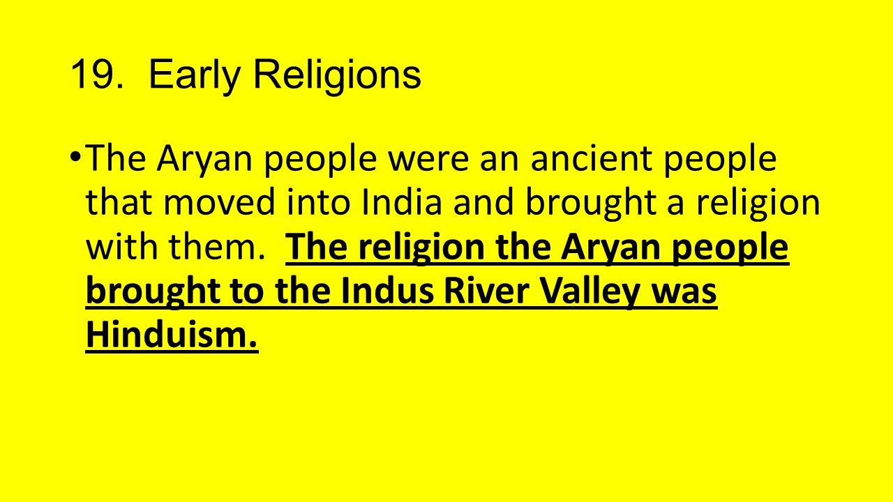 19. Early Religions