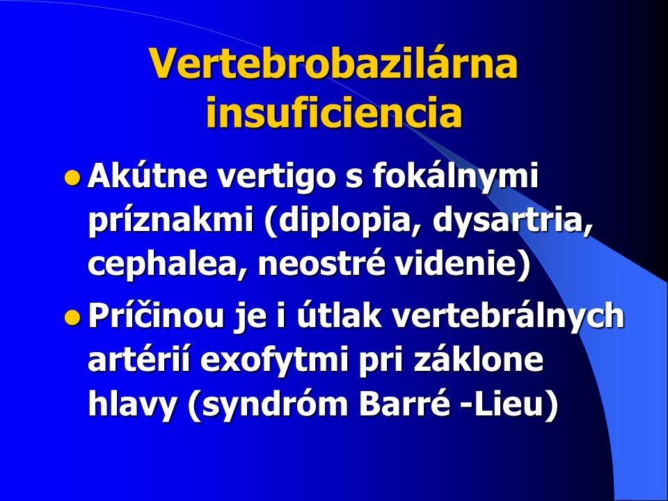Vertebrobazilárna insuficiencia