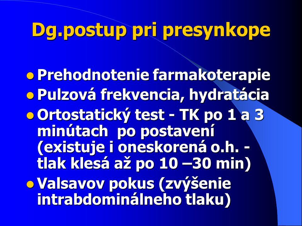Dg.postup pri presynkope