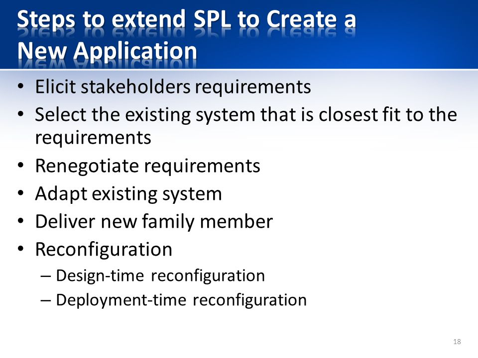 Steps to extend SPL to Create a New Application