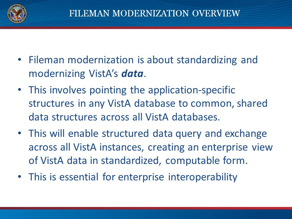 Fileman Modernization Overview