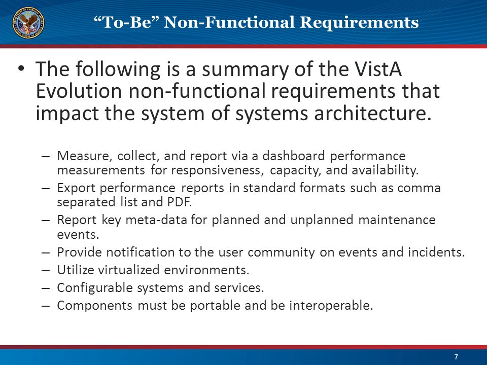 To-Be Non-Functional Requirements