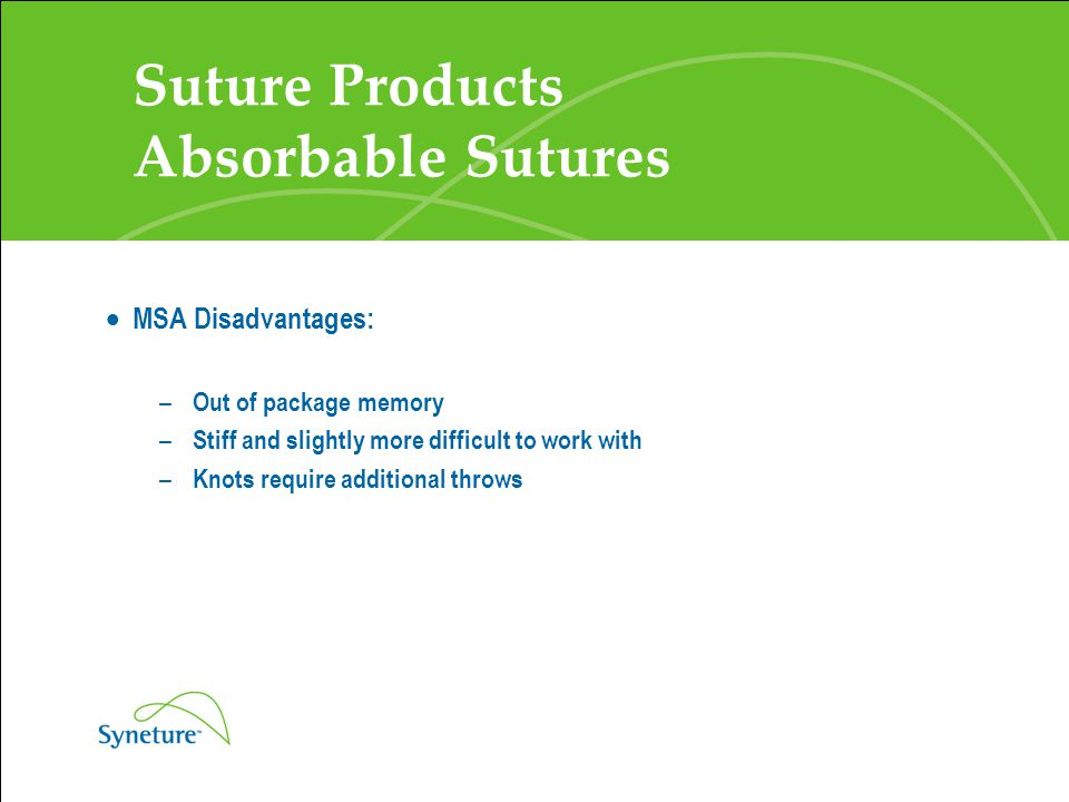 Suture Products Absorbable Sutures