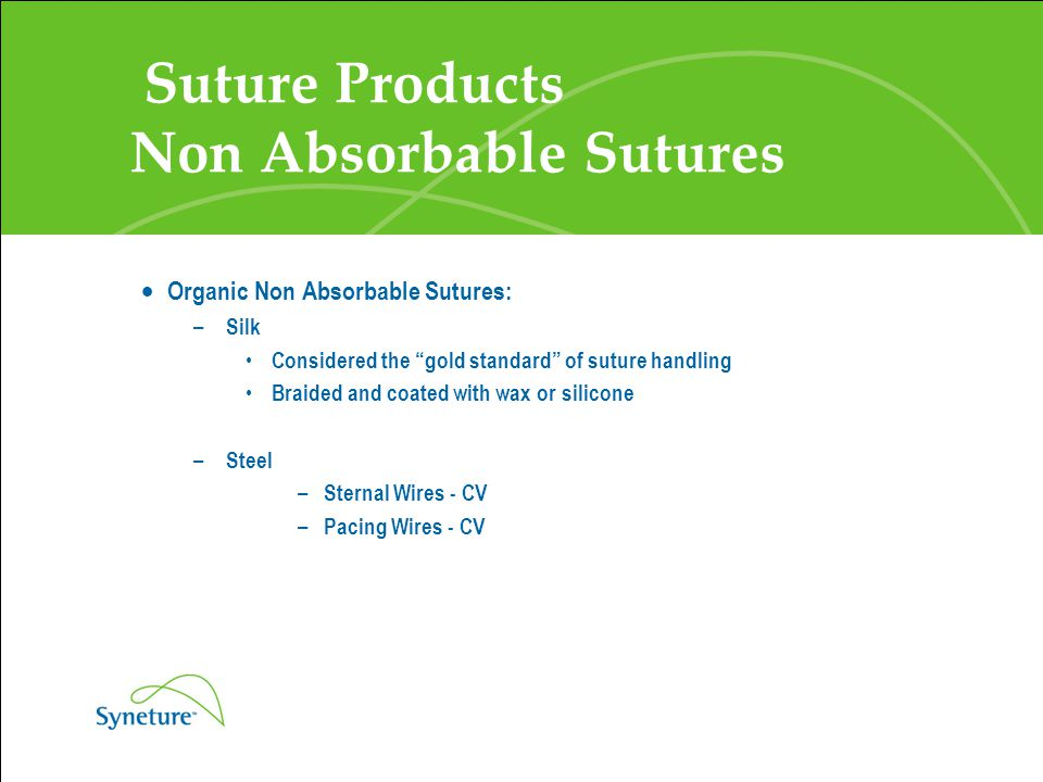 Suture Products Non Absorbable Sutures