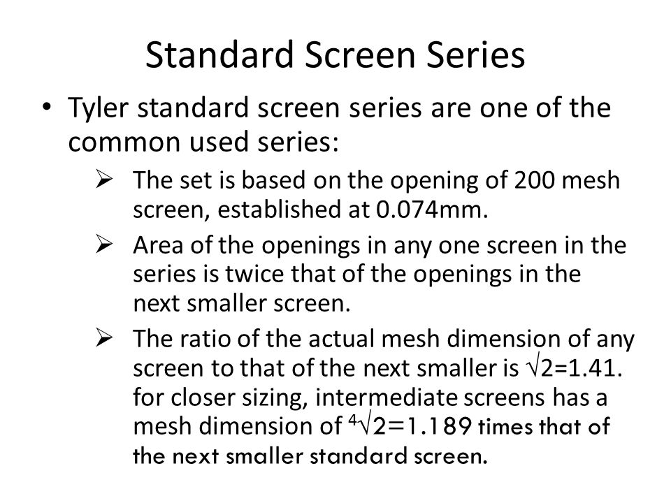 Standard Screen Series