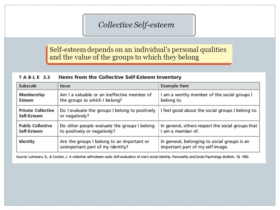 Collective Self-esteem