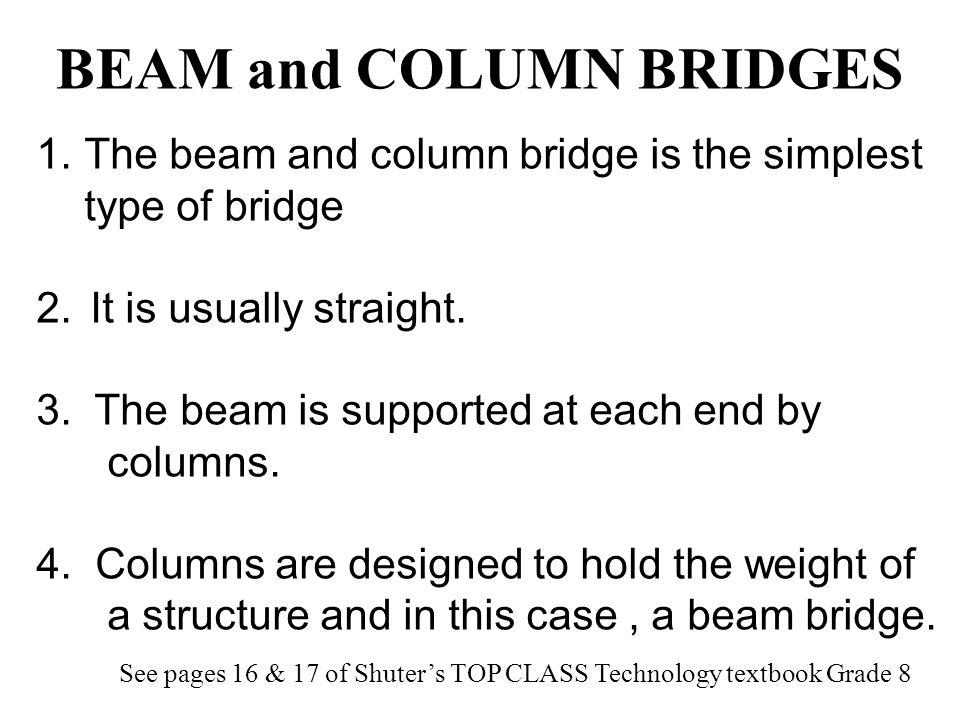 BEAM and COLUMN BRIDGES