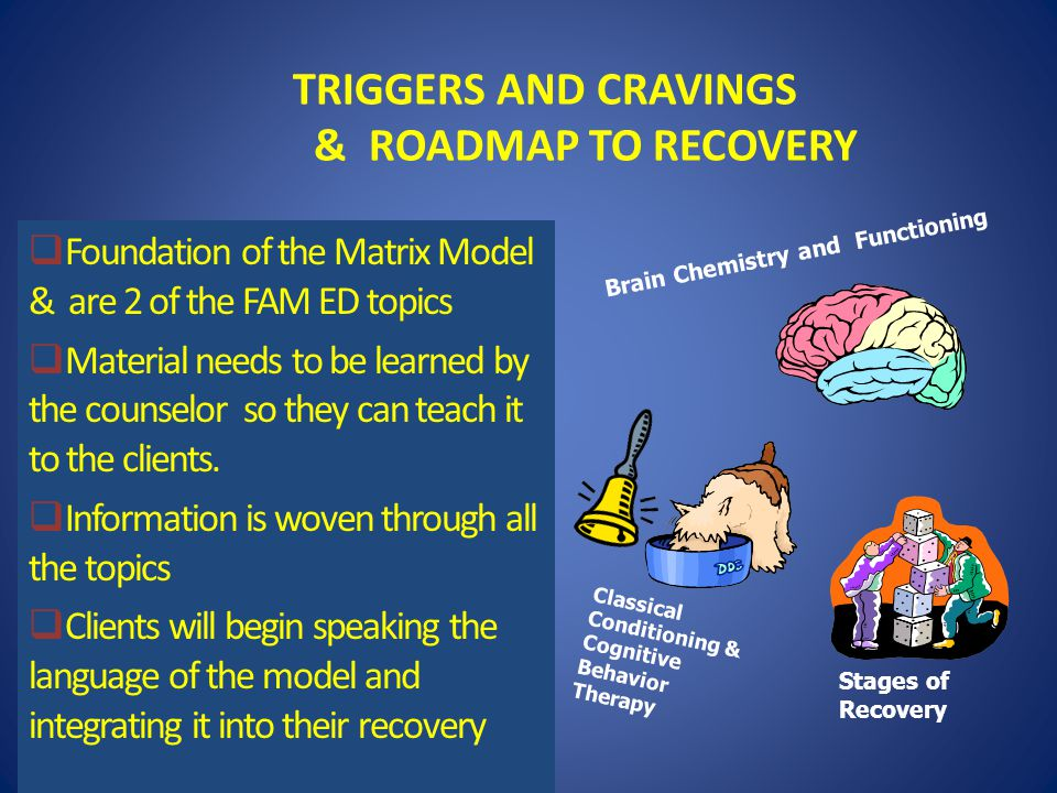 TRIGGERS AND CRAVINGS & ROADMAP TO RECOVERY