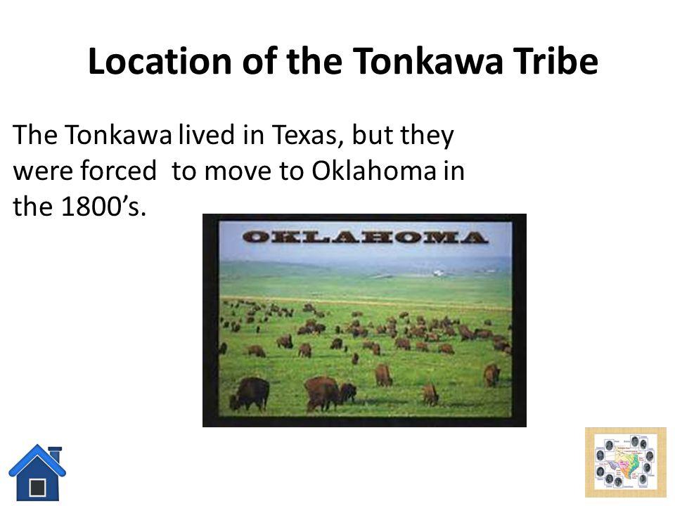 Location of the Tonkawa Tribe