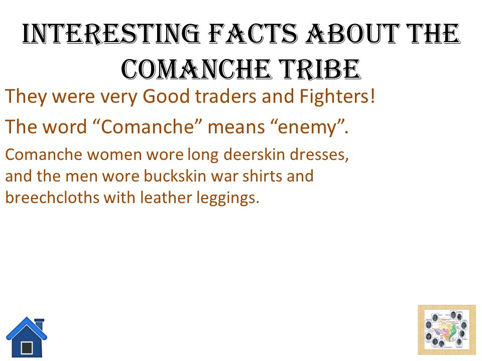 Interesting Facts About the Comanche Tribe