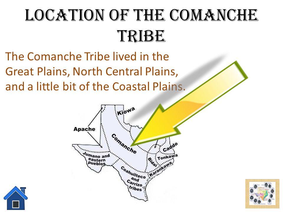 Location of the Comanche Tribe