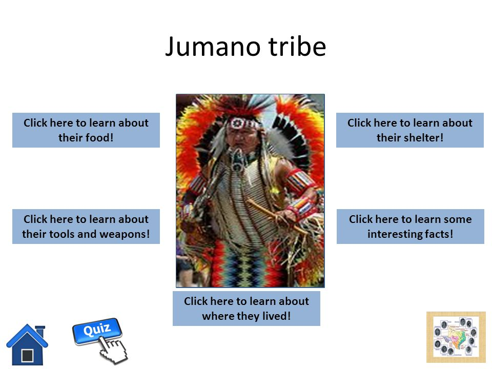 Jumano tribe add picture here Click here to learn about their food!