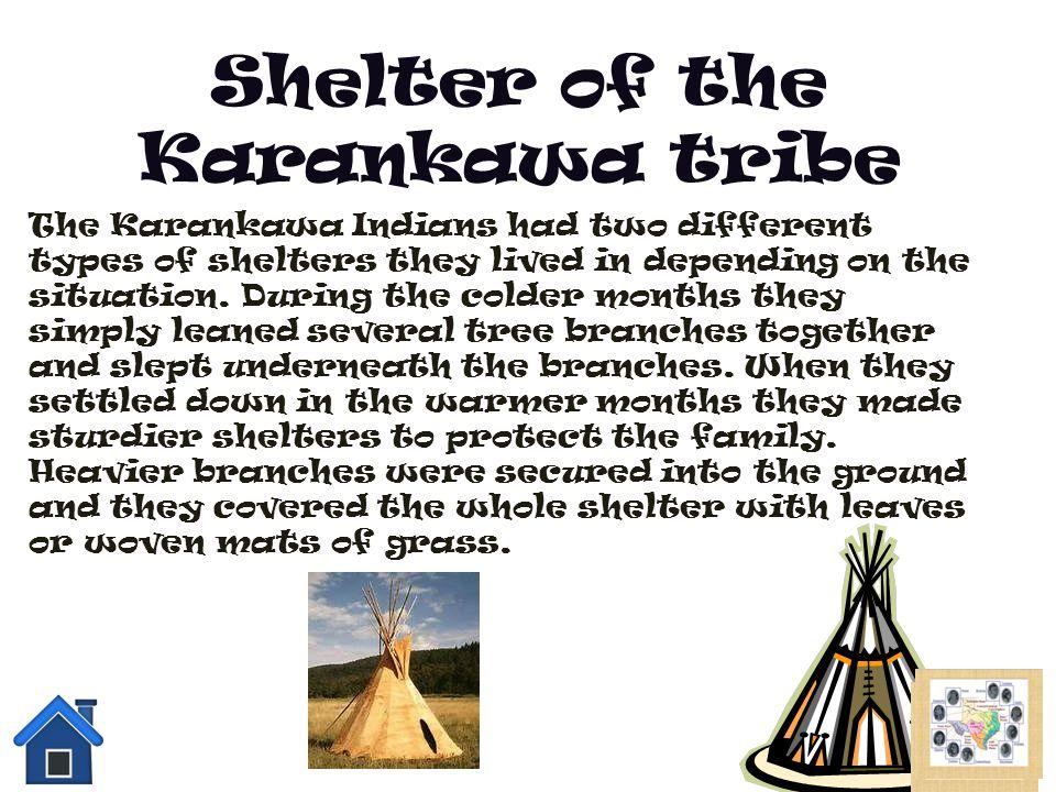 Shelter of the Karankawa tribe