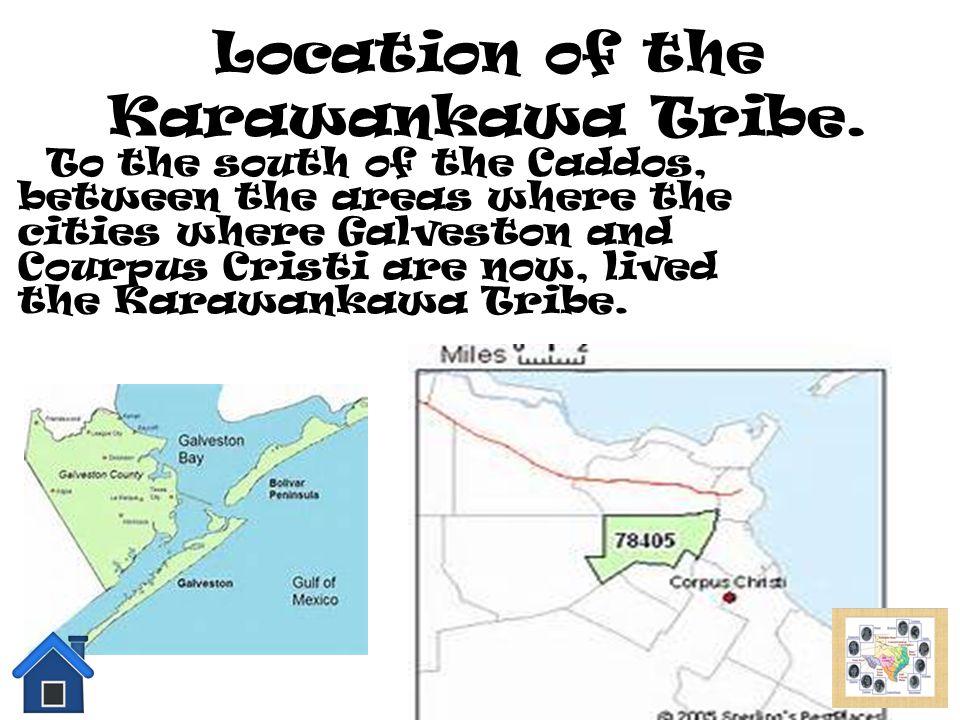 Location of the Karawankawa Tribe.