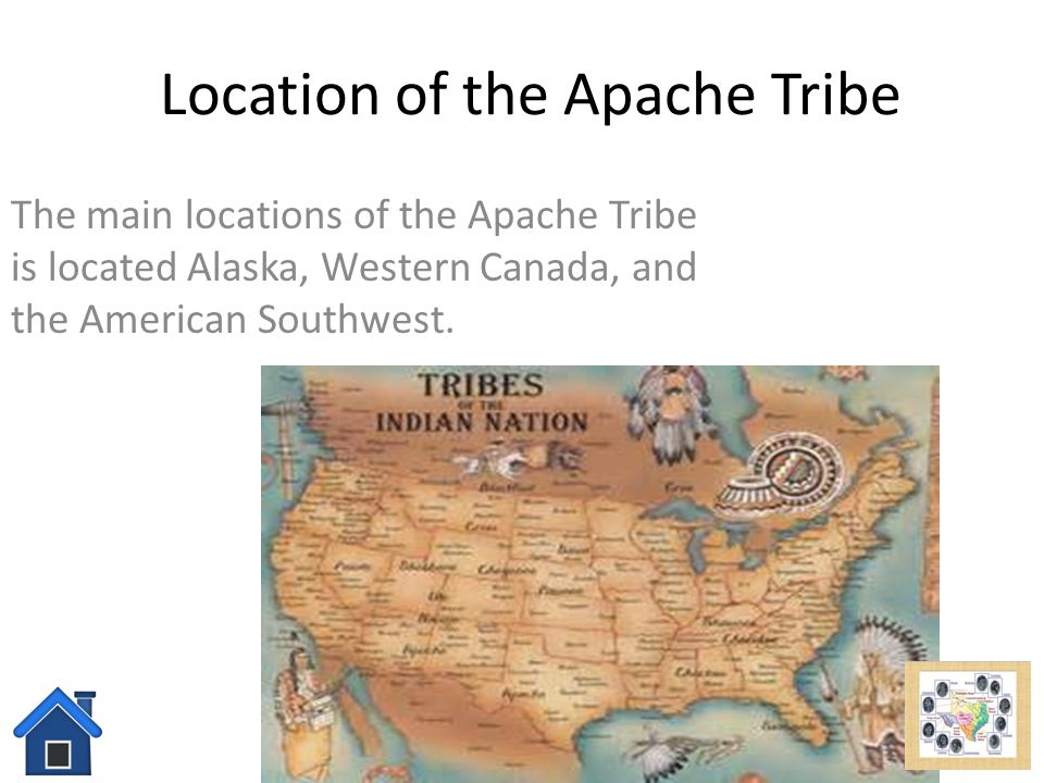 Location of the Apache Tribe