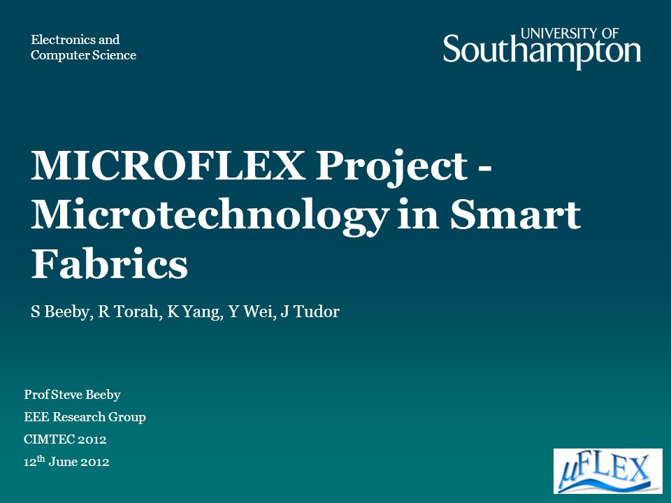 MICROFLEX Project - Microtechnology in Smart Fabrics