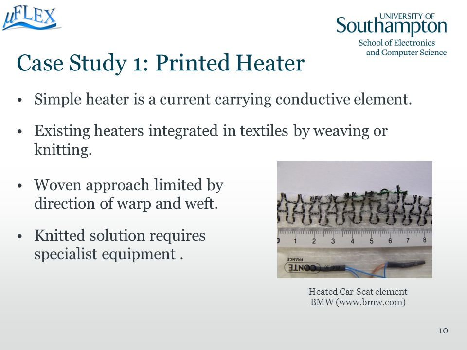 Case Study 1: Printed Heater