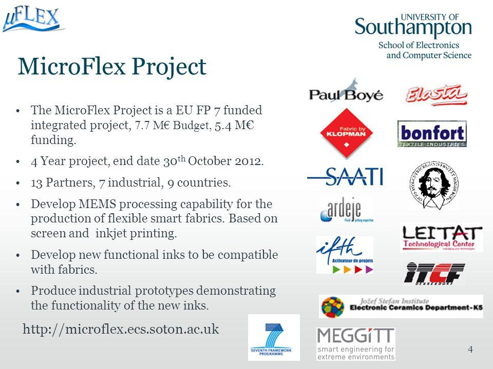 MicroFlex Project http://microflex.ecs.soton.ac.uk