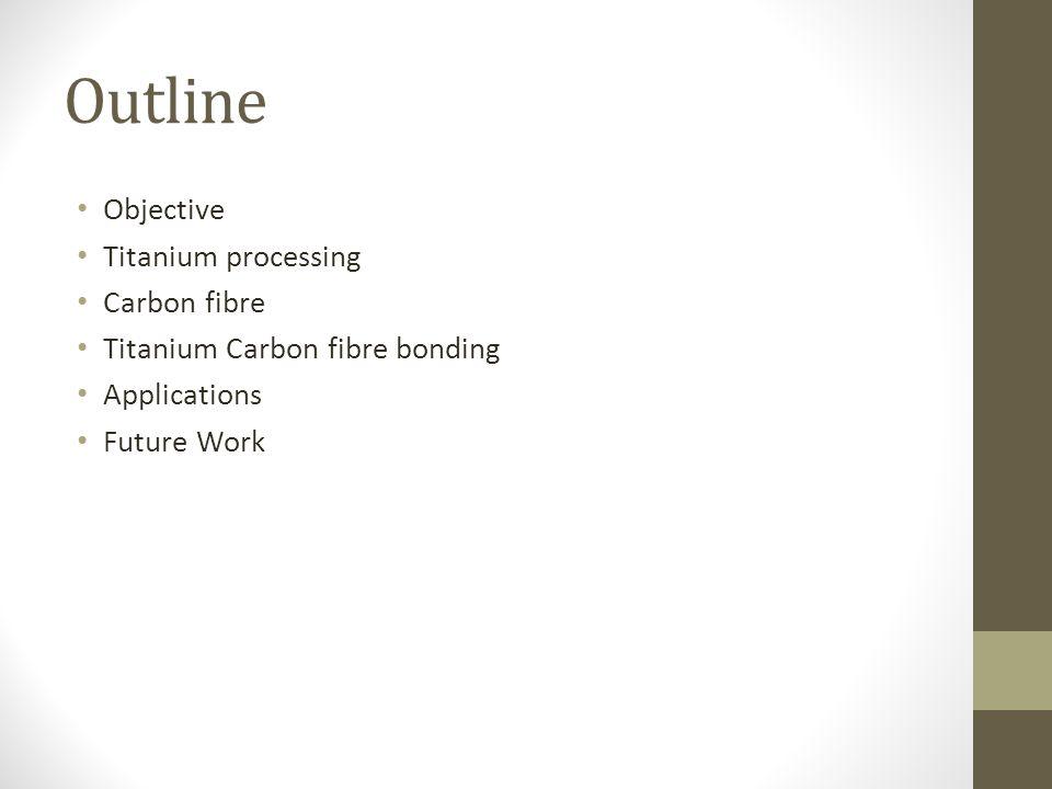 Outline Objective Titanium processing Carbon fibre