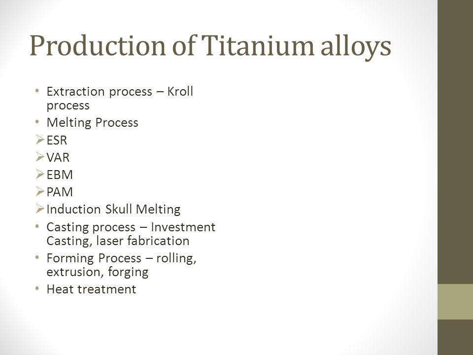 Production of Titanium alloys