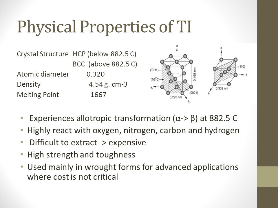 Physical Properties of TI