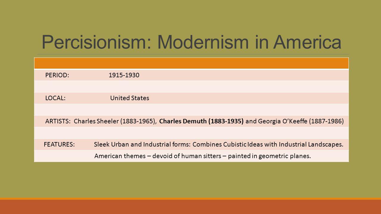 Percisionism: Modernism in America