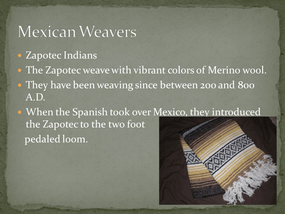 Mexican Weavers Zapotec Indians