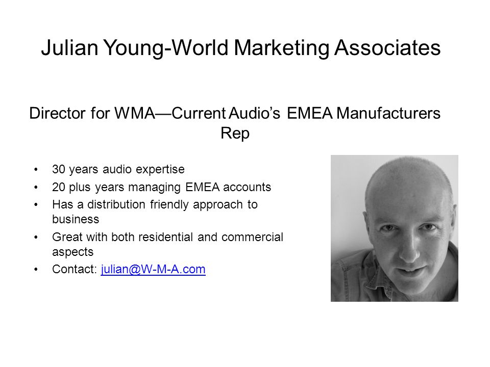 Julian Young-World Marketing Associates