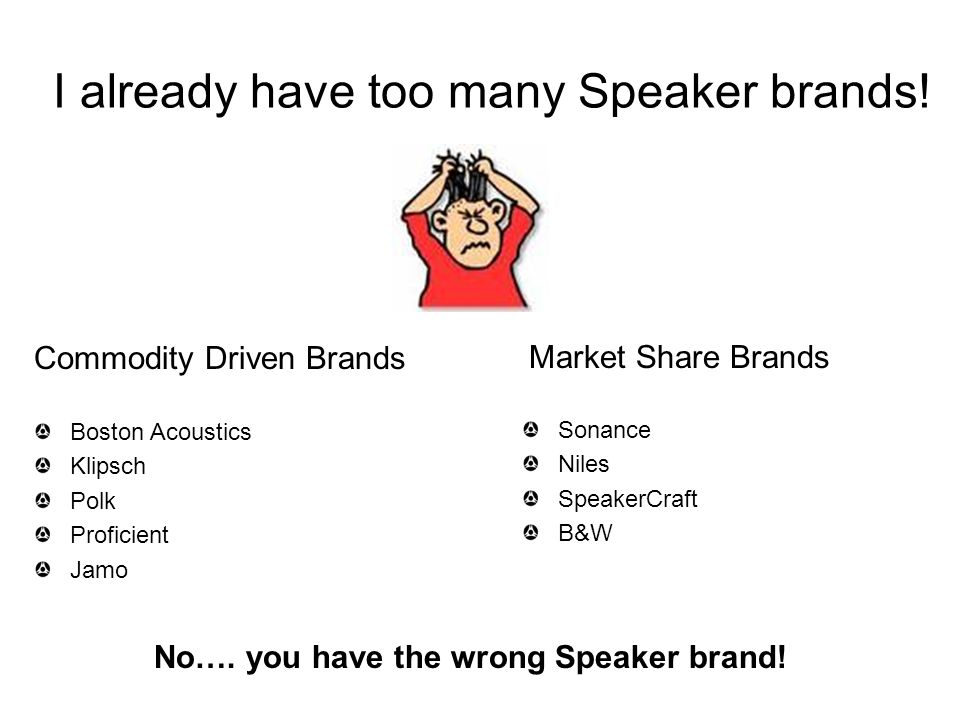 I already have too many Speaker brands!