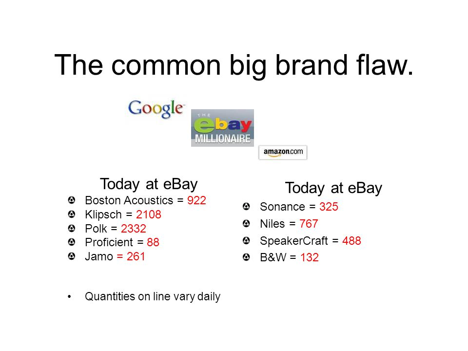 The common big brand flaw.