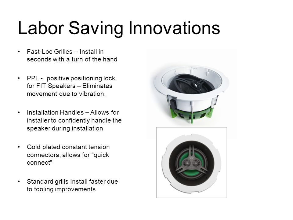 Labor Saving Innovations