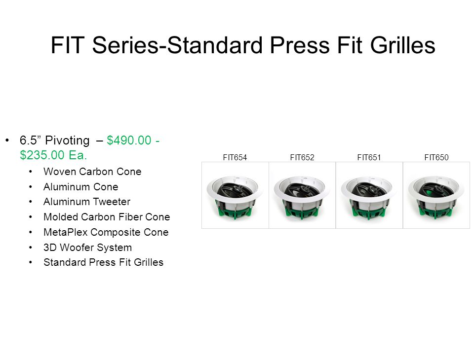 FIT Series-Standard Press Fit Grilles