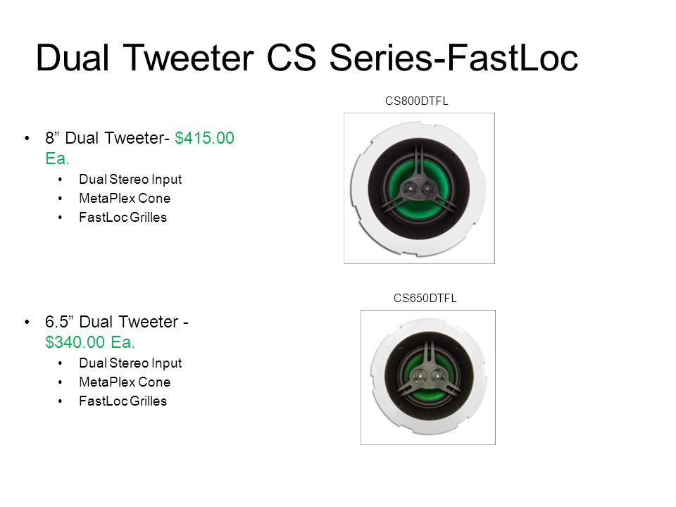 Dual Tweeter CS Series-FastLoc
