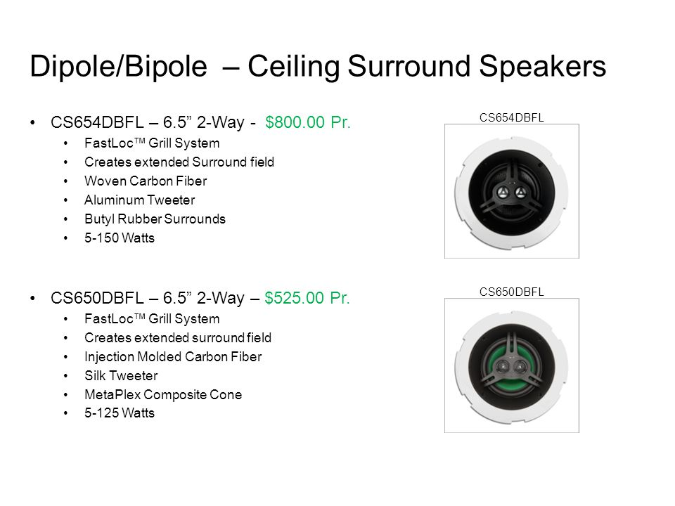 Dipole/Bipole – Ceiling Surround Speakers