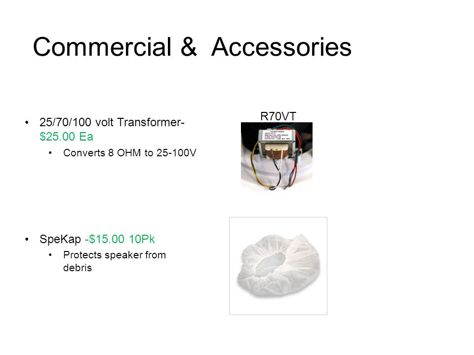 Commercial & Accessories