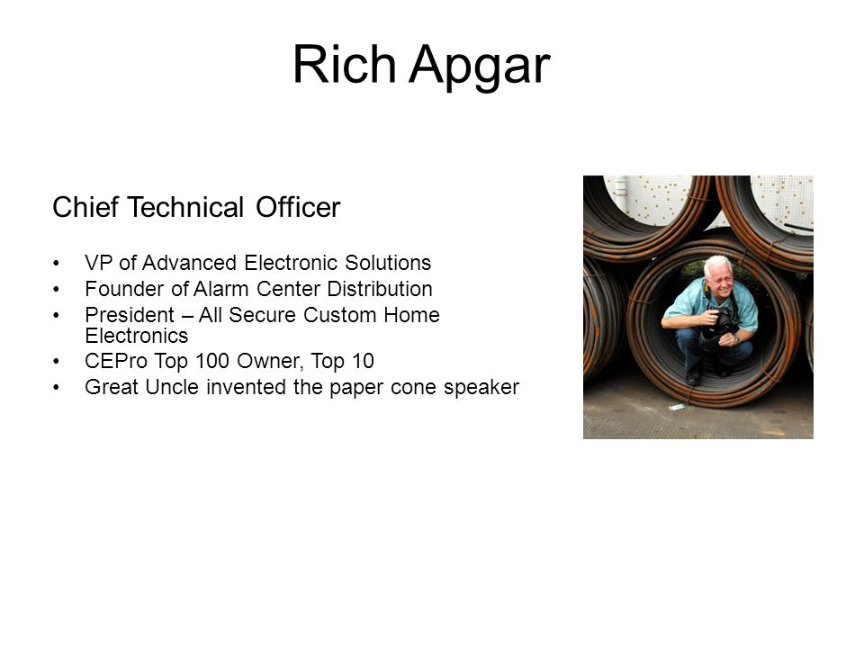 Rich Apgar Chief Technical Officer VP of Advanced Electronic Solutions