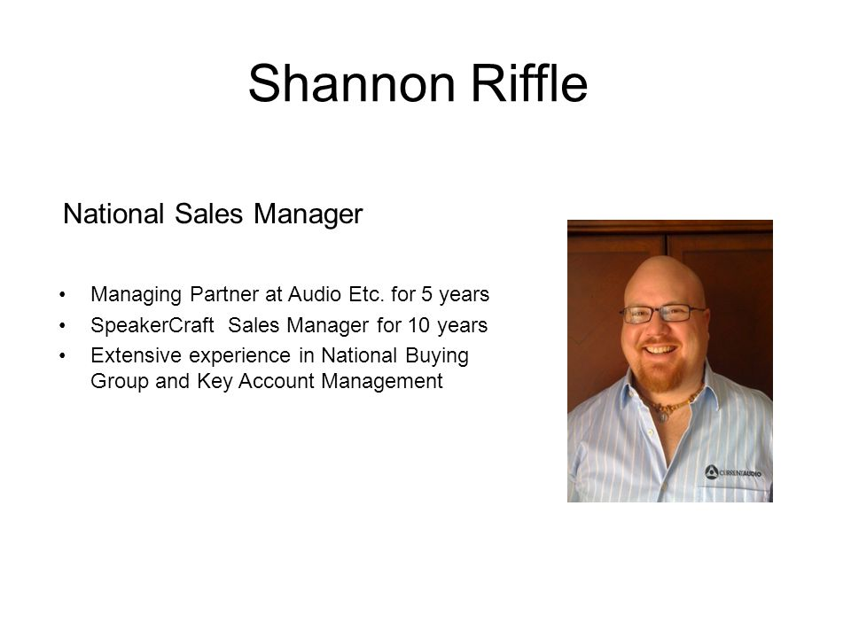 National Sales Manager