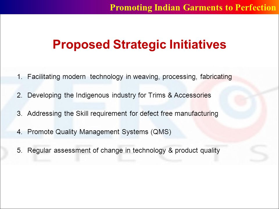 Proposed Strategic Initiatives