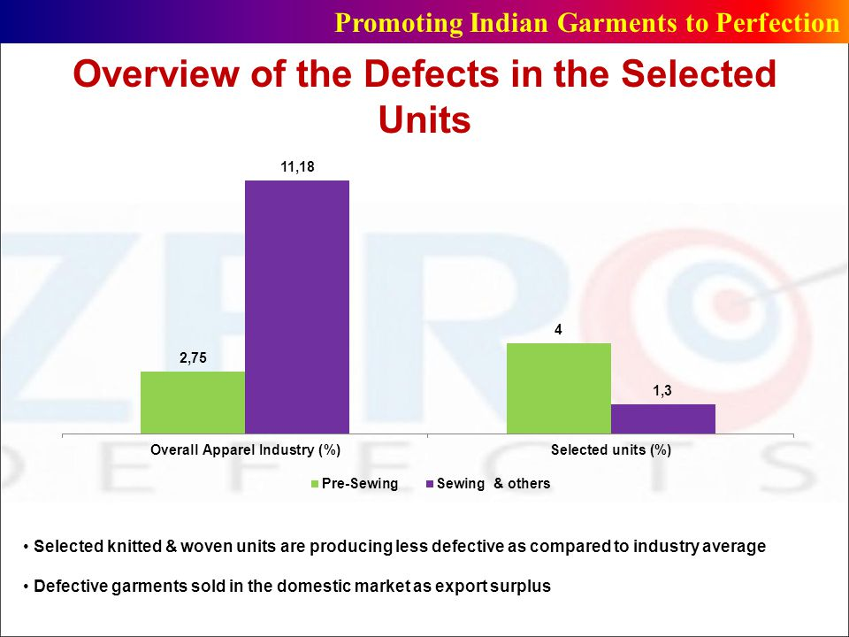 Overview of the Defects in the Selected Units