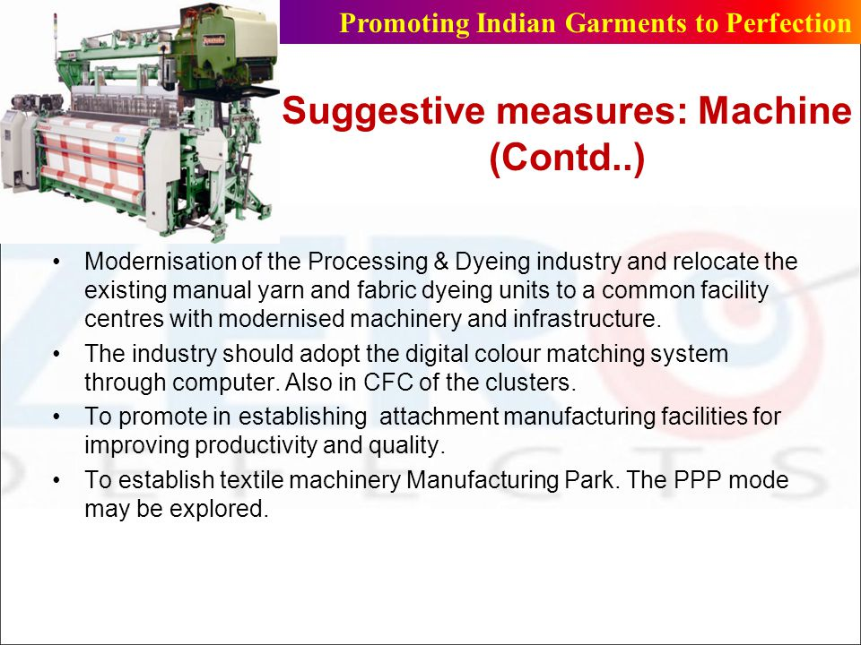 Suggestive measures: Machine (Contd..)